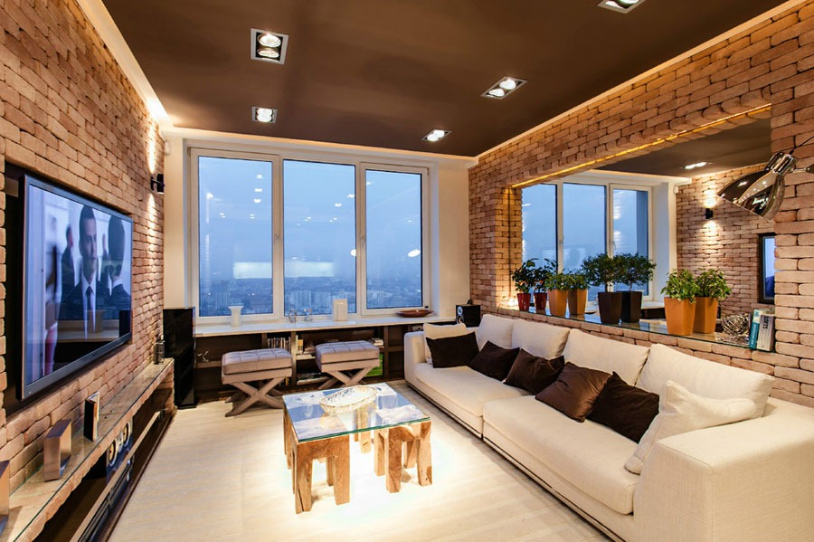 Stylish laconic and functional new york loft style for Interior designers new york