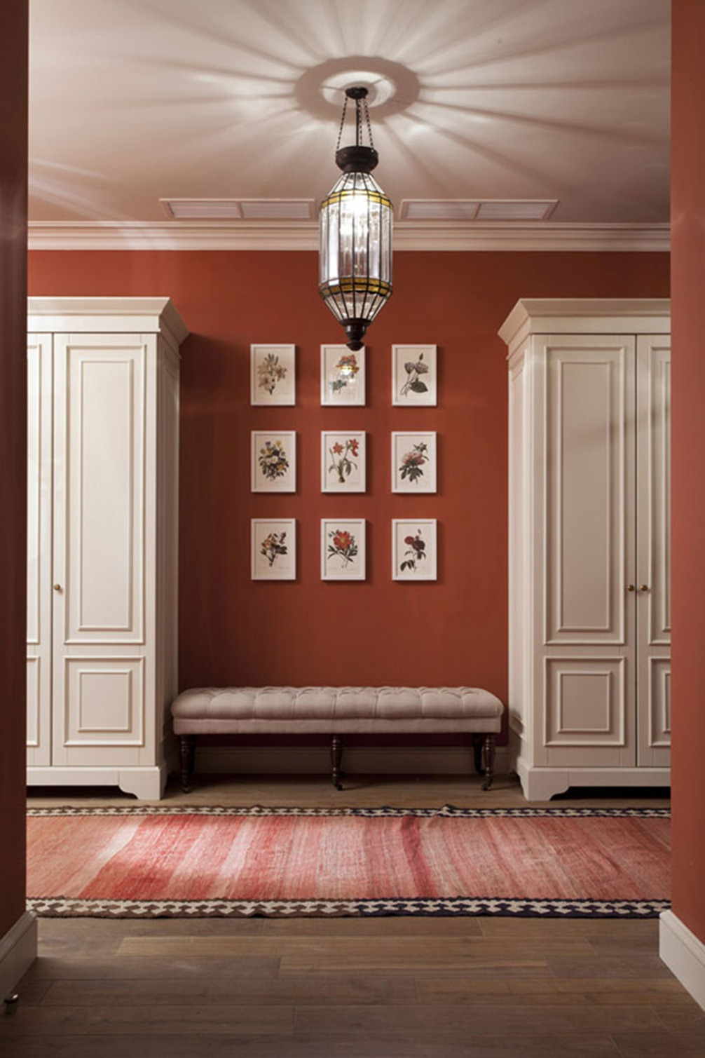 red wall in house