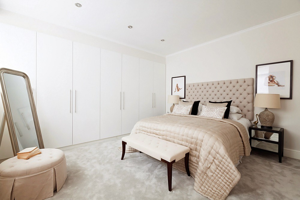 beige color bedroom design