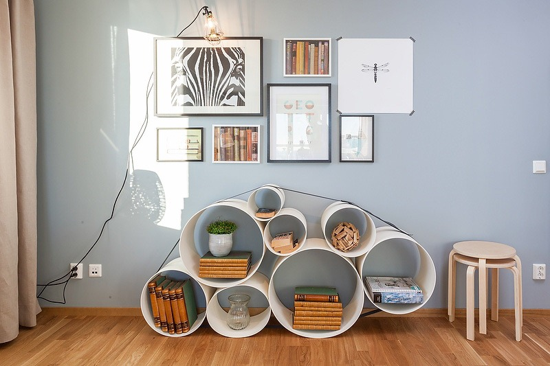 shelves design in living room