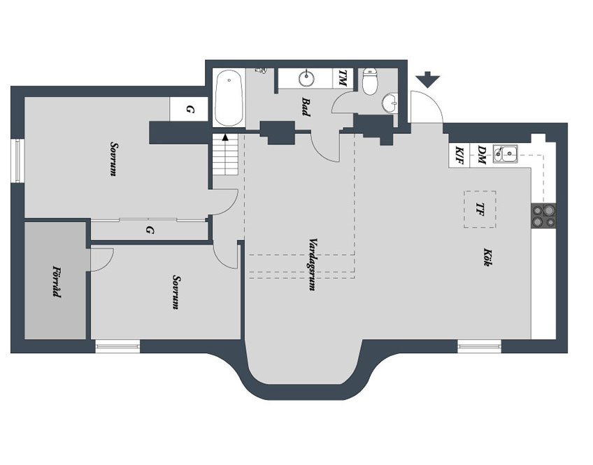 floor plan loft apartment