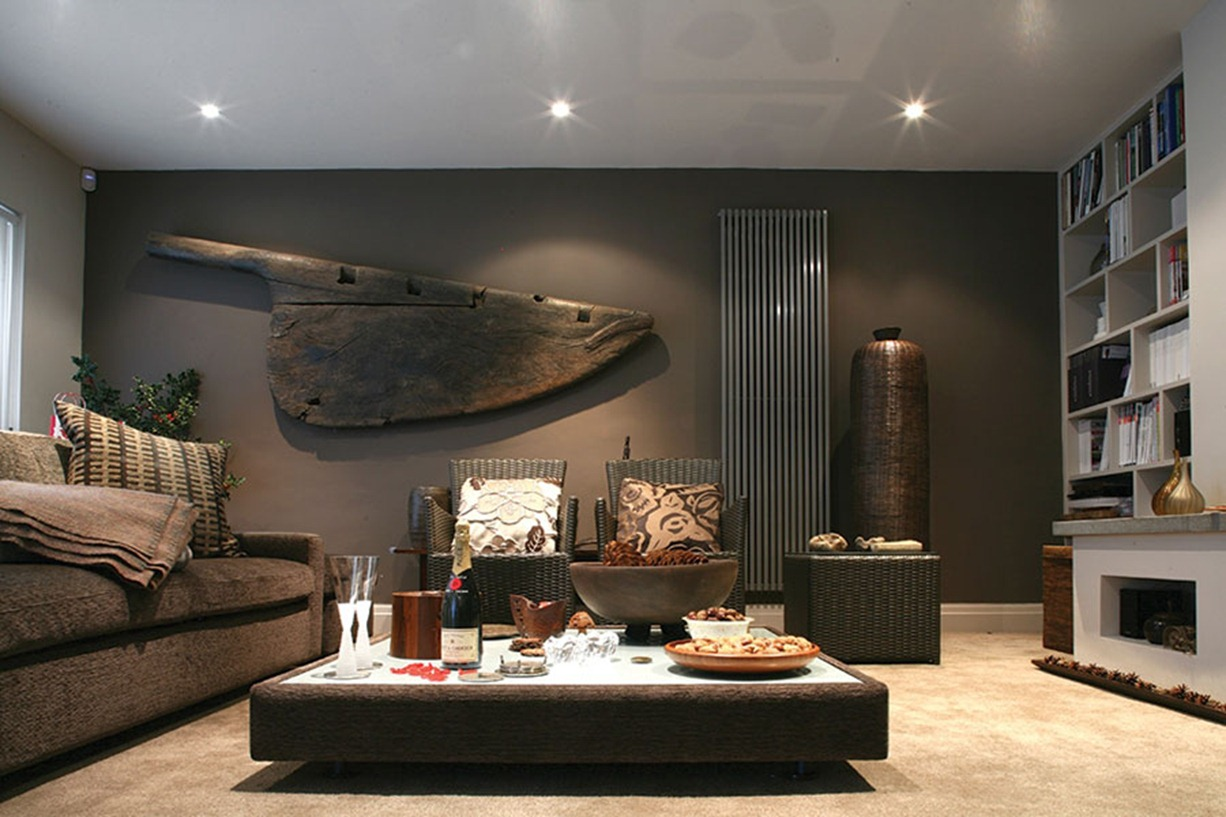 Masculine interior design with imagination for Interior wall design