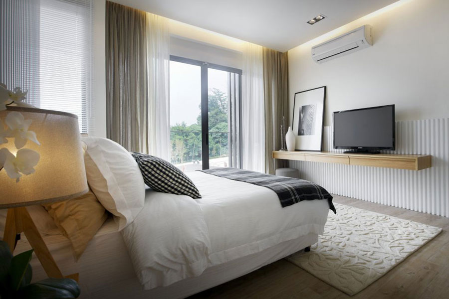 modern bedroom design interior