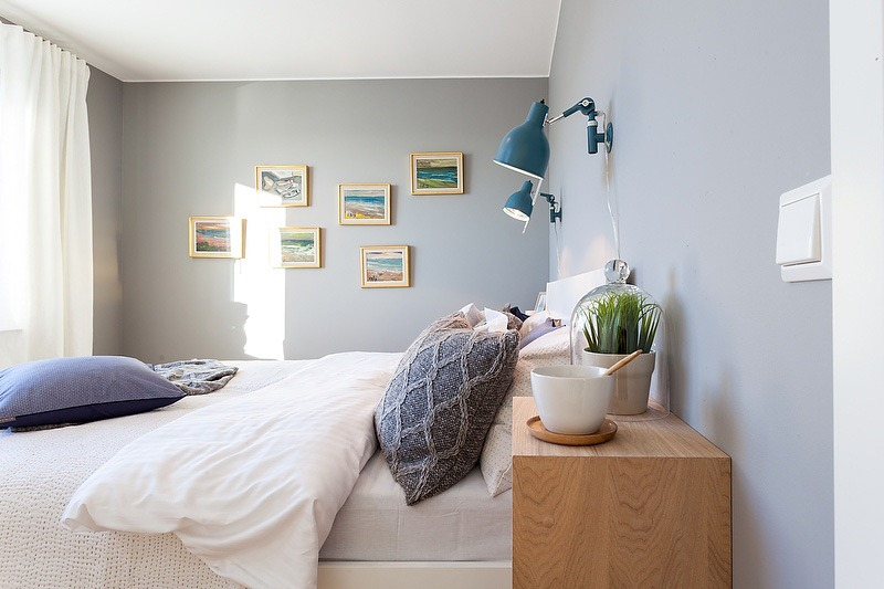 Light Blue Interior Design In Scandinavian Style