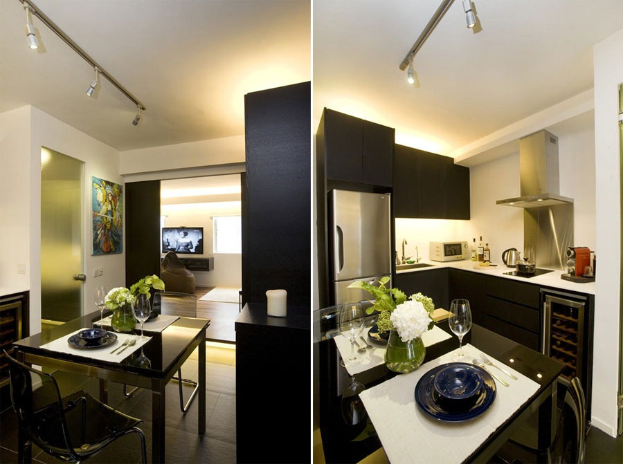 Chic and small apartment interior design in hong kong Small apartments design pictures