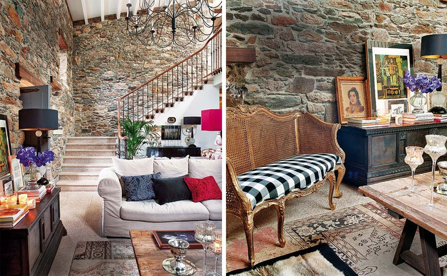 old house interiors.  Charming Old House Renovation By Keeping The Stone Interior Walls