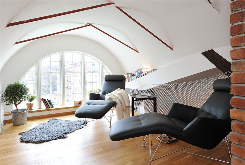 swedish loft apartment