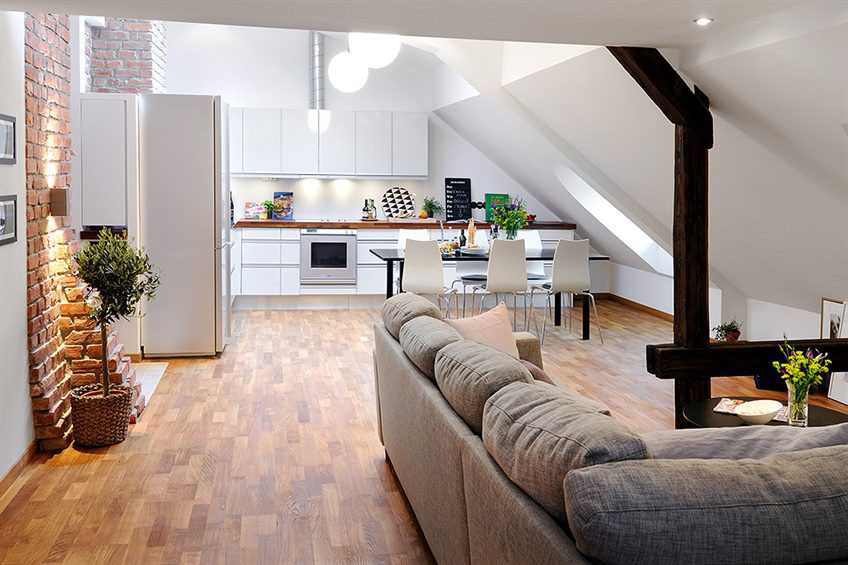 two level loft apartment