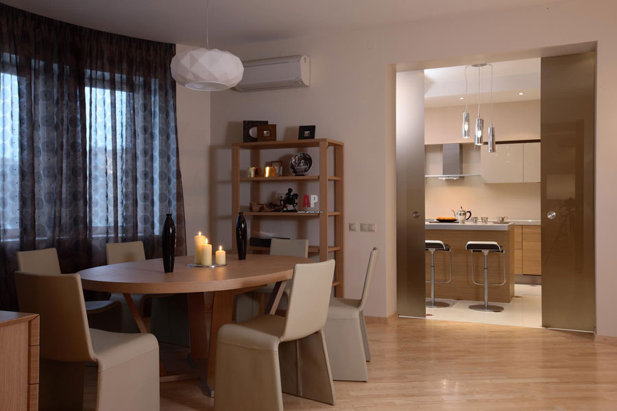 two level apartment in modern style