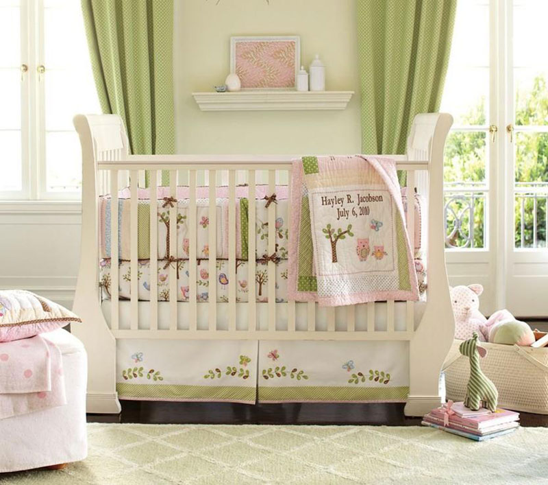 Wonderful Baby Nursery Pink Green Images