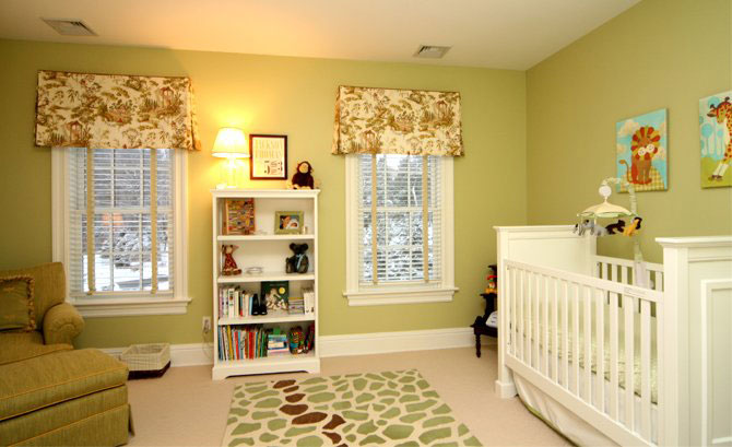baby nursery ideas in green