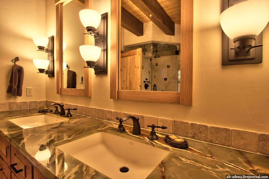 bathroom design in rustic style