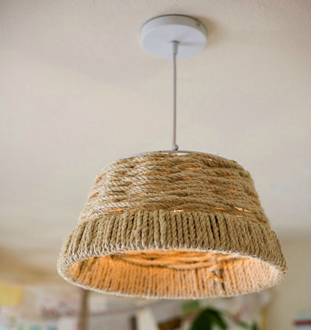 ceiling lamp who made from sisal rope