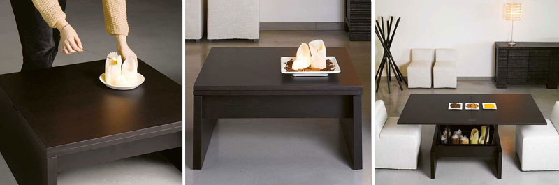 convertible coffee table designed by john strand company