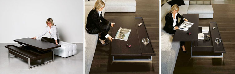 convertible coffee table turns into desk