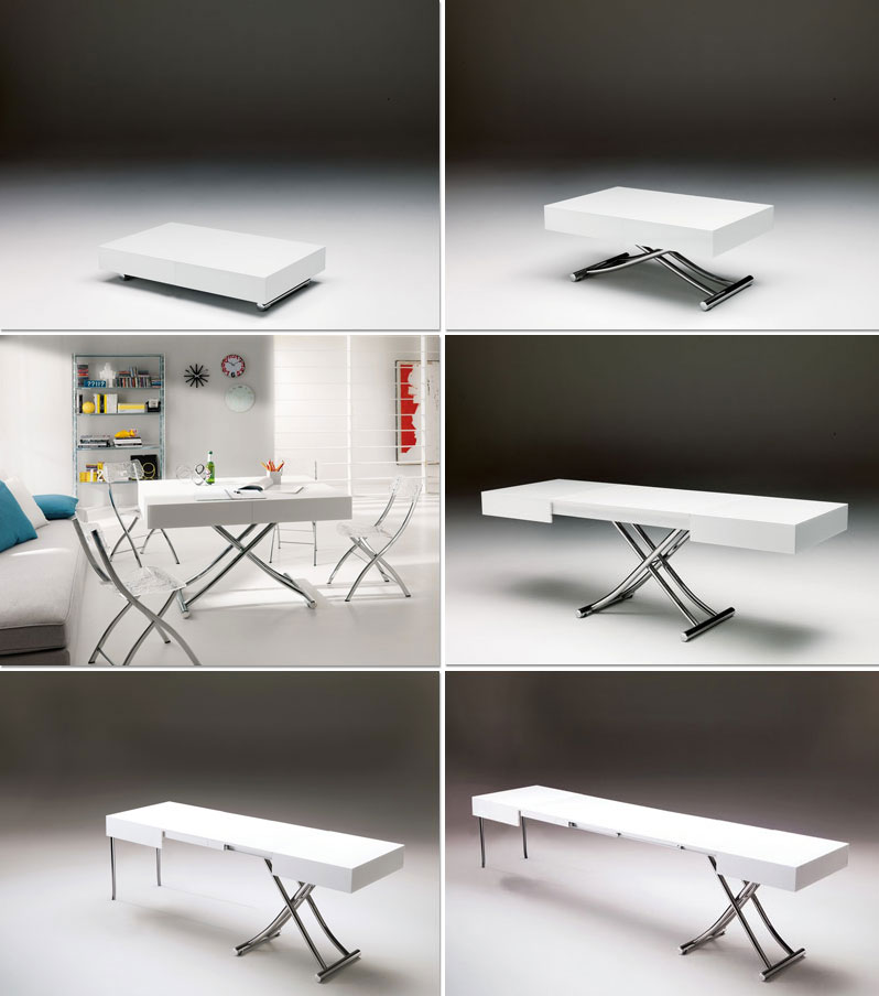 convertible tables created by ozzio company