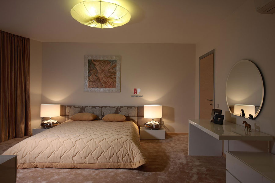 bedroom design for two-level apartment
