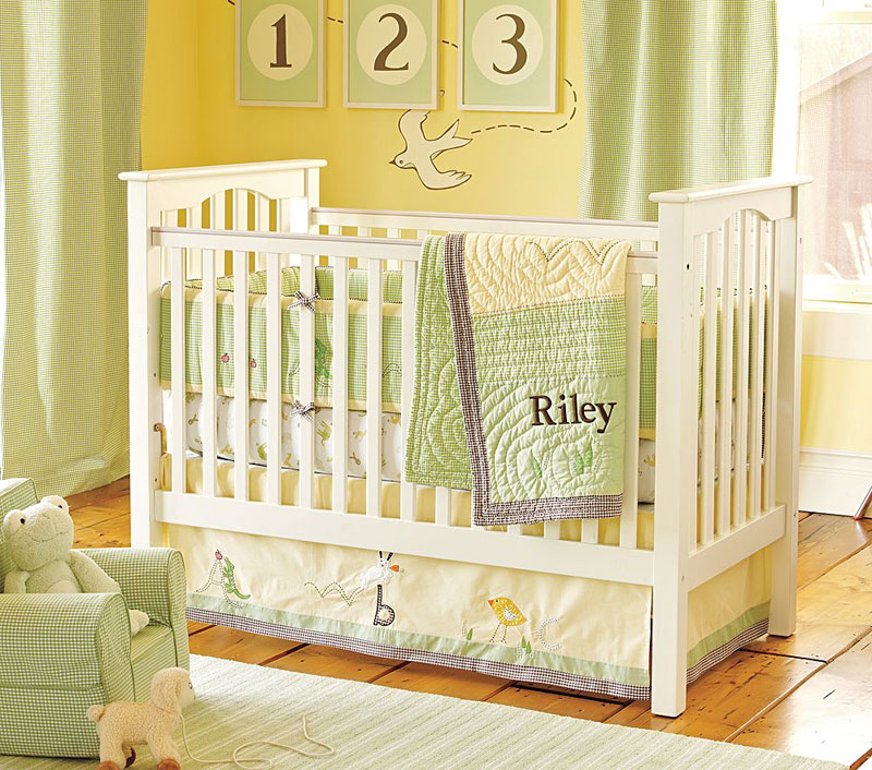 green baby nursery design ideas