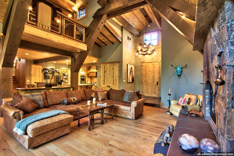 Home Interior Design. Rustic Mountain Home Design
