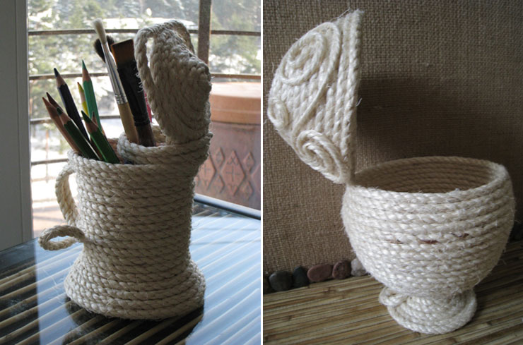 home accessories made from sisal rope