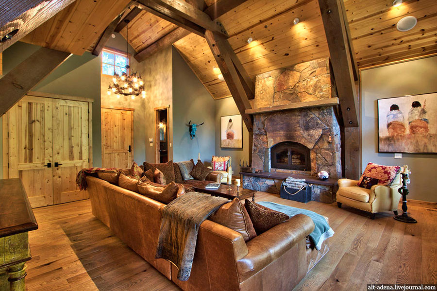 mountain style luxury home design
