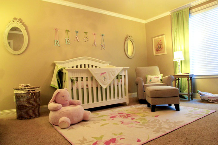 Olive Green Baby Nursery