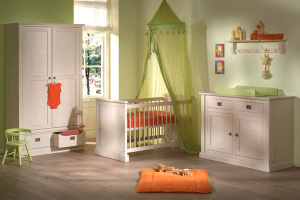 orange and green nursery