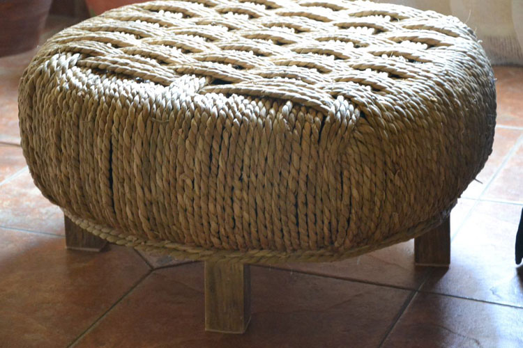 pouffe made from sisal