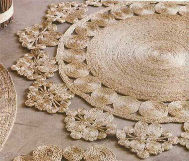 rug made from sisal rope