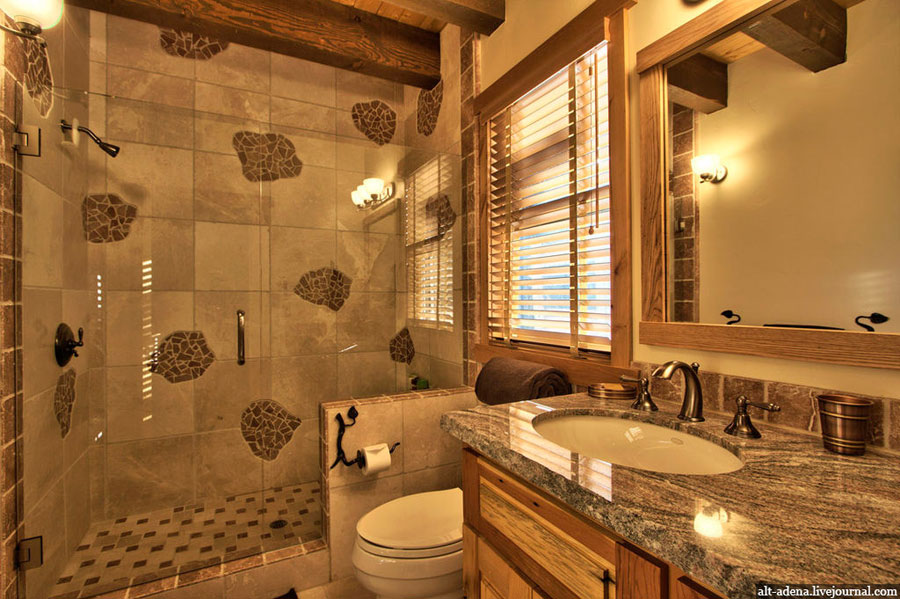 rustic bathroom interior design of house