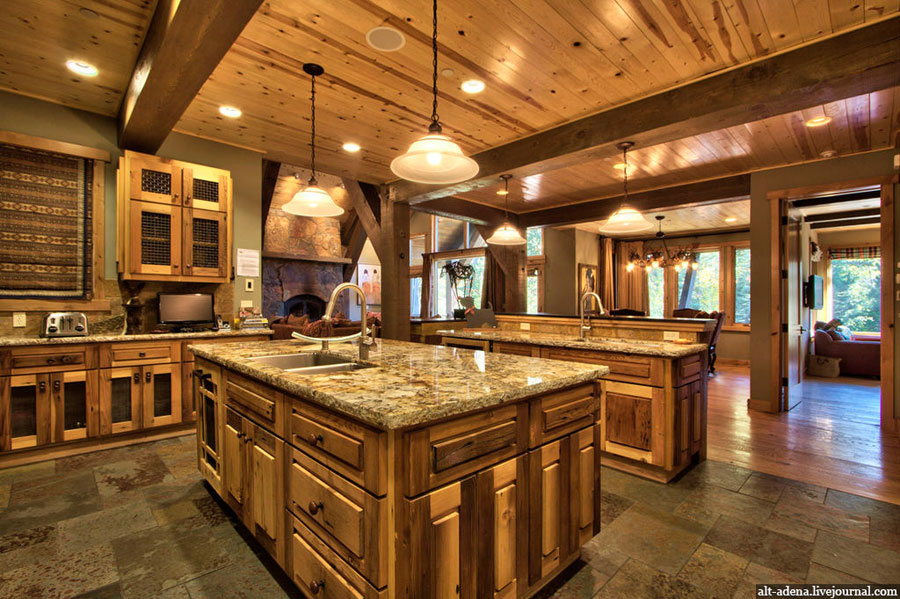 4 Brilliant Kitchen Remodel Ideas: Mountain Style Home Decorated In Rustic Style