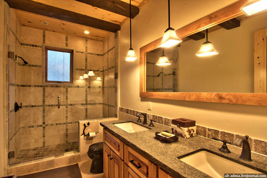 rustic style bathroom design inspiration