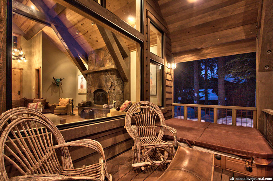 Mountain style home decorated in rustic style for Rustic style interior
