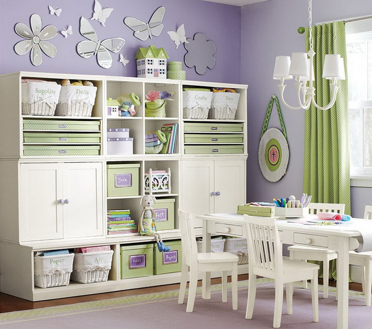 30 Functional and Cozy Childrens Room Design Ideas : shelvesinchildrensroom from 4betterhome.com size 730 x 645 jpeg 111kB