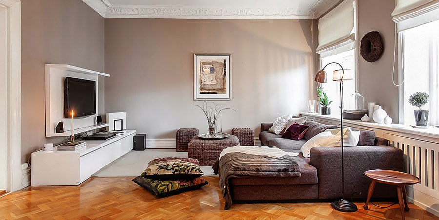 Swedish Interior charming swedish style apartment in cappuccino color