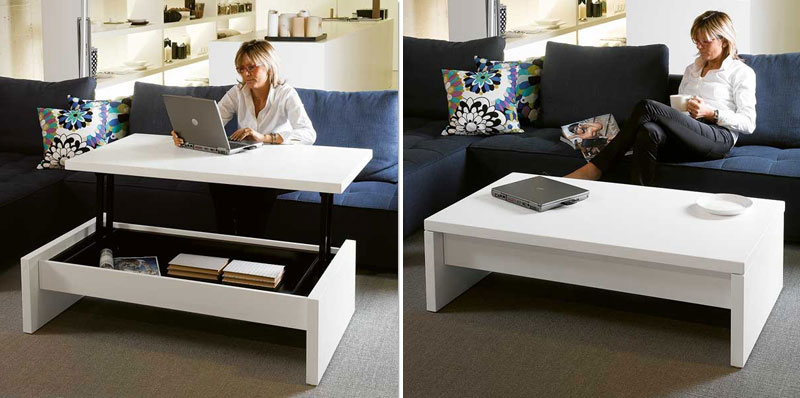 coffee table converts into desk