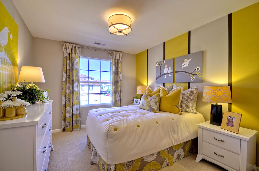 yellow wall color bedroom